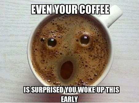 Zaskoczona kawa