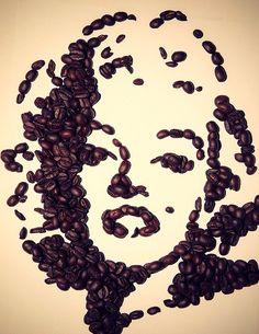 marylin monroe z ziarna kawy