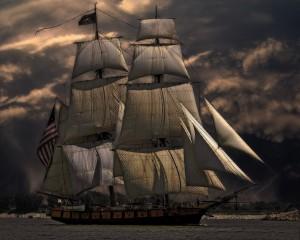 statek z herbatą