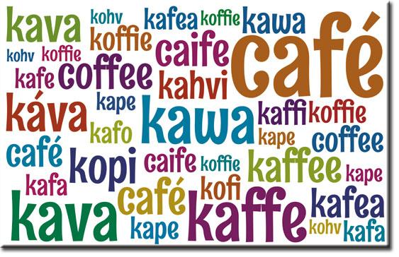 nazwy kawy w innych językach